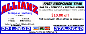 Coupon for Redding Heating and Air Services